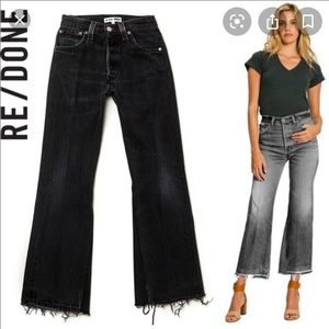 Re/Done Black Leadra Jeans Sz 26